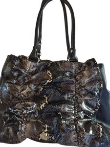 Nine West Faux Snakeskin Bow Shoulder Bag