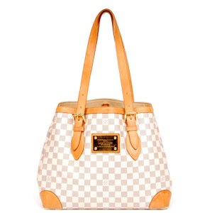 Louis Vuitton Damier Canvas Leather Hampstead Shoulder Bag