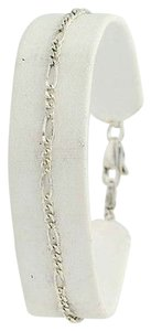 Figaro Chain Bracelet 7 - Sterling Silver Lobster Claw Clasp