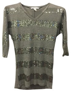 Kenneth Cole Sequin Top Gray