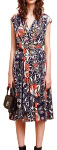 Navy/orange/white Maxi Dress by Tory Burch