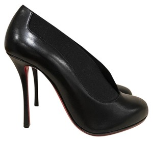 Christian Louboutin Toot Couverte Stiletto Leather Bootie black Pumps