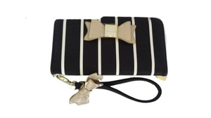 Betsey Johnson COMBINATION BLACK / BONE STRIPES /GOLD BOWS/WALLET