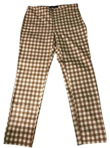 Zara Checkered Straight Pants
