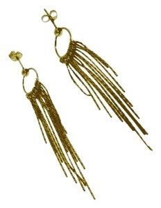 GORGEOUS - 14k Gold tassel dangle earrings