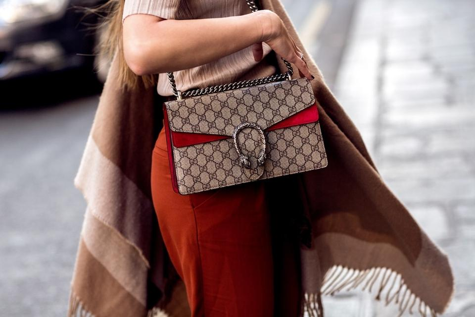 48a7d7be Gucci Dionysus New Gg Supreme Small Red Canvas/Suede Shoulder Bag - Tradesy