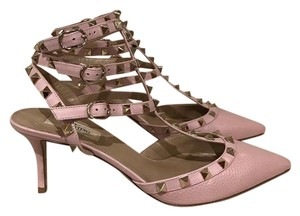 Valentino Rockstud Studded Stiletto Kitten Rose pink Pumps