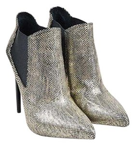 Saint Laurent Metallic Black Boots