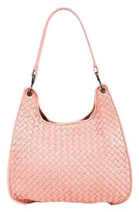Bottega Veneta Rose Intrecciato Leather Shoulder Bag
