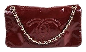 Chanel Bordeaux Vinyl Shoulder Bag