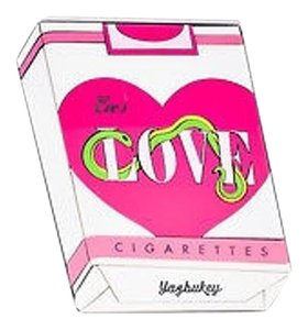 Other Yazbukey Pink White Green Eves Love Cigarettes Box Multi-Color Clutch