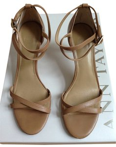 Ann Taylor Leather Beige Pumps