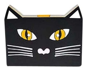 Other Yazbukey Yellow White Pink Black Cat Box Multi-Color Clutch
