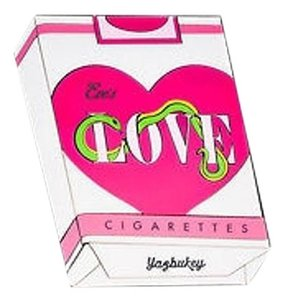 Other Yazbukey Pink White Black Eves Love Cigarettes Box Multi-Color Clutch