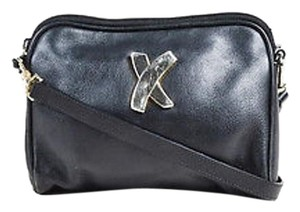 Paloma Picasso Vintage Leather Shw Two Way Clutch Cross Body Bag