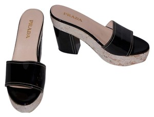 Prada Patent Leather Platform Black Platforms