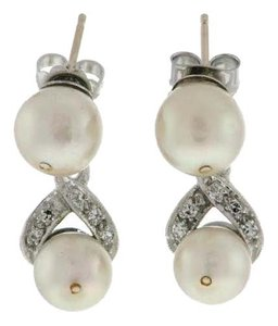 Other 14k Gold , diamonds & pearl earrings