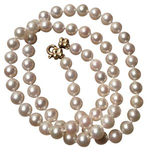 14k Saltwater culture pearl necklace 14k culture pearl salt water necklace