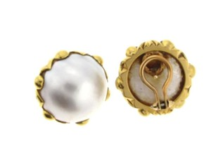 Other STUNNING - 18 karat yellow gold mabe pearl clip earrings