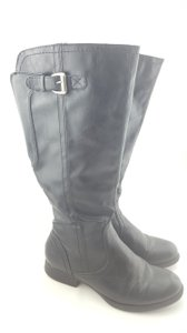 Bare Traps Flat Calf Winter Tall Black Boots