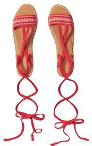 Hollister red Sandals