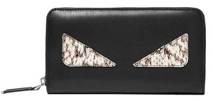 Fendi Fendi Bag Bugs Leather Zip-around Wallet