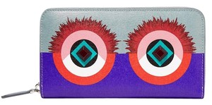 Fendi Fendi 2Jours Zip Around Leather Continental Wallet