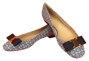 Tory Burch Gemini Chain Blue Flats