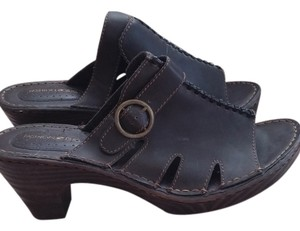 Fashion Bug Dark Brown Mules