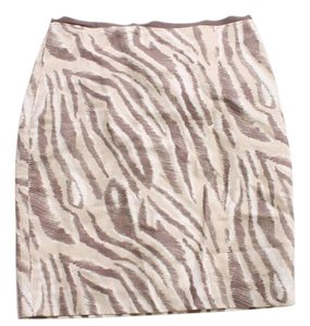 Ann Taylor LOFT Printed Cotto Silk Size 2p Skirt Gray