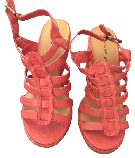 Madden Girl Orange/red Wedges