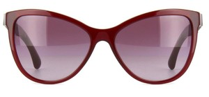 Chanel CHANEL 5326 BURGUNDY REISSUE RUTHENIUM CHAIN GRADIENT SUNGLASSES