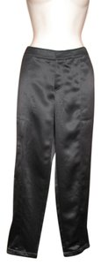 Womyn Satin Slim Night Out Date Night Cargo Pants Black