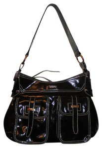 DKNY Man Made Faux Patent Shoulder Bag