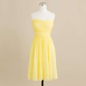 J.Crew Frosted Citrus Silk Chiffon Arabelle Casual Bridesmaid/Mob Dress Size 8 (M)