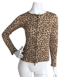 One Girl Who Leopard Cashmere Sweater