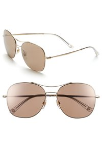 Gucci 58mm Navigator Stainless Steel Sunglasses