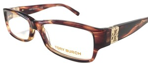 Tory Burch New Tory Burch Eyeglasses Multi Reddish Brown with Case