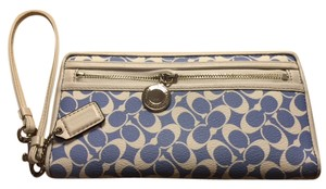 Coach Wallet Resort Night Out Wristlet in Blue & White