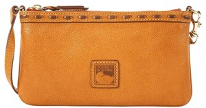 Dooney & Bourke Florentine Leather Wristlet in Tan
