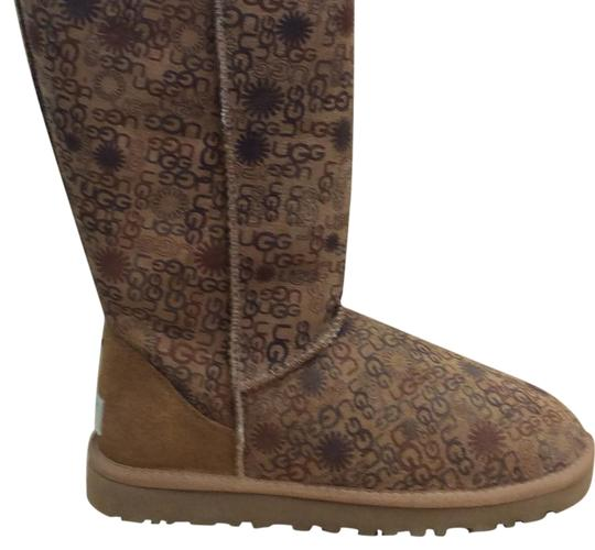ugg australia ugg logo brown boots on sale 37 off boots booties on sale. Black Bedroom Furniture Sets. Home Design Ideas
