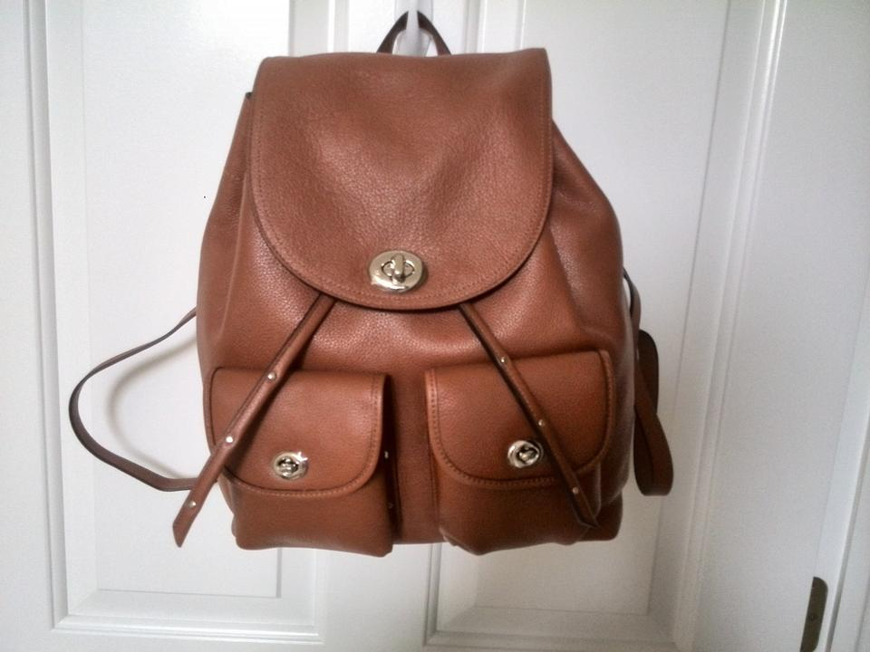 d08c20abc Coach Turnlock Rucksack In Polished Pebble Leather Backpack - Tradesy