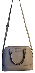 Kate Spade Leather Single Color Vintage Satchel in Taupe