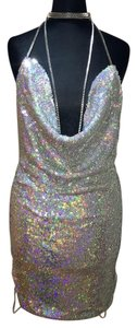 Society of Chic Sequin Silver Nye Sequin Nye Dress