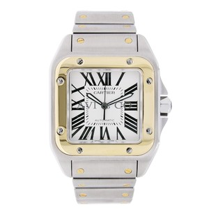 Cartier Cartier Santos 100 Automatic 18K Yellow Gold & Stainless Steel Watch