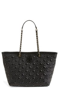 Tory Burch Work Quilted Tote in Black
