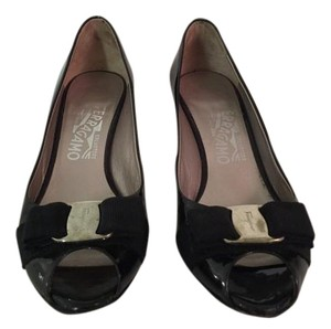 Salvatore Ferragamo Patent Leather Black Pumps