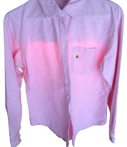 Anthropologie Button Down Shirt Pink