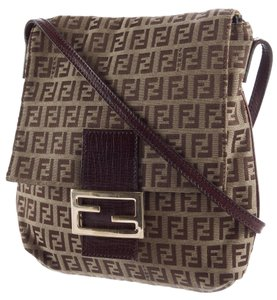 Fendi Monogram Zucca Zucchino Shoulder Bag