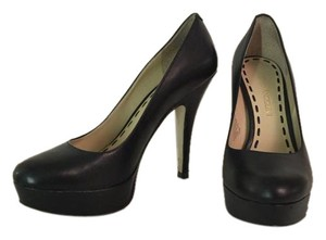 Enzo Angiolini Leather Black Pumps